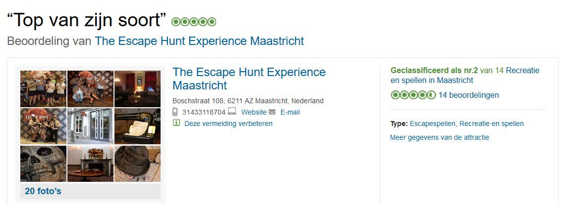 Escape Hunt Maastricht Tripadvisor