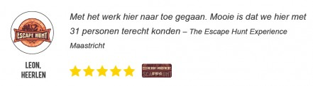 Reviews en Beoordelingen voor The Escape Hunt Maastricht - Leon