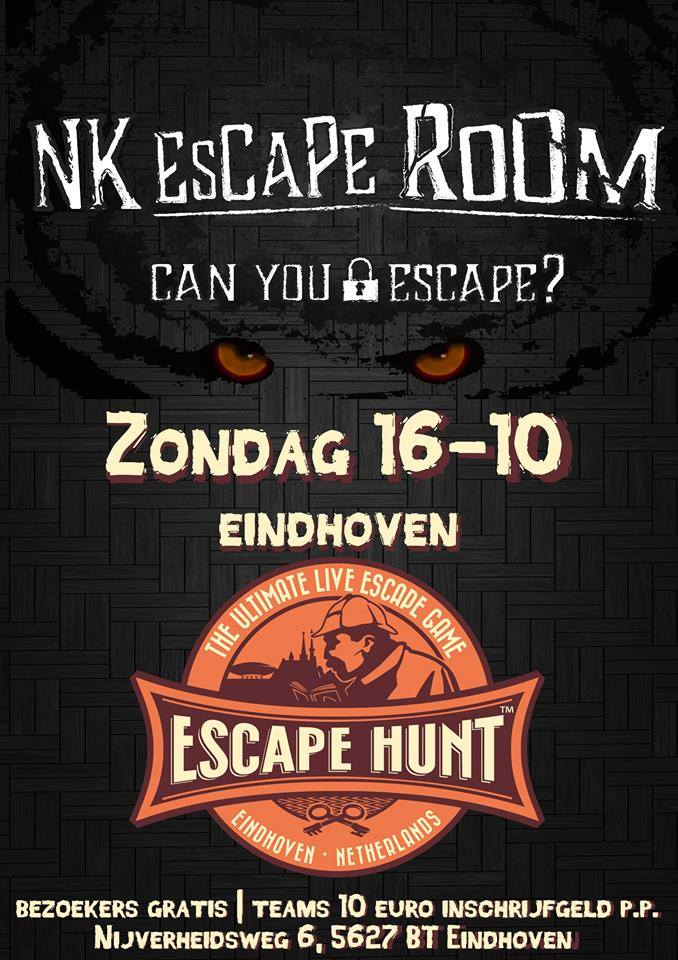 Eerste Nk Escape Rooms In The Escape Hunt Experience Eindhoven