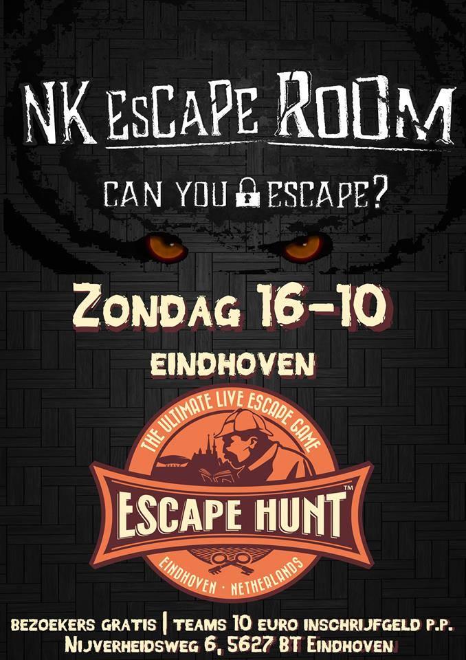 nk escape room bij Escape Hunt Experience Eindhoven
