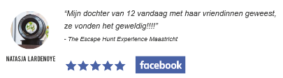 Facebook review escape room The Escape Hunt Experience