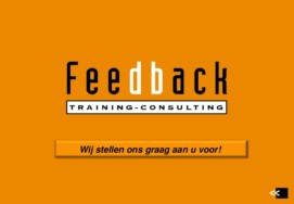 Training Doelgericht Samenwerken of Leiderschap door Feedback Training & Consulting