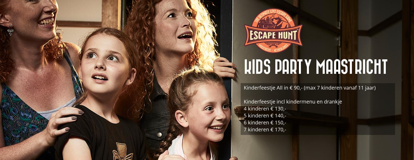 Kinderfeestje Maastricht met escape room